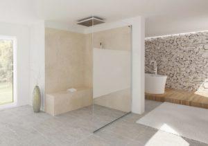 Duschsanierung - Dusche mit granit